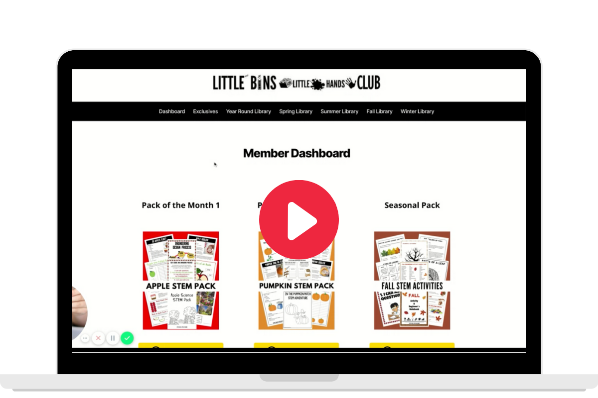 Member dashboard video image